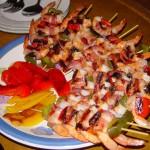Keptos krevetės su mango salsa